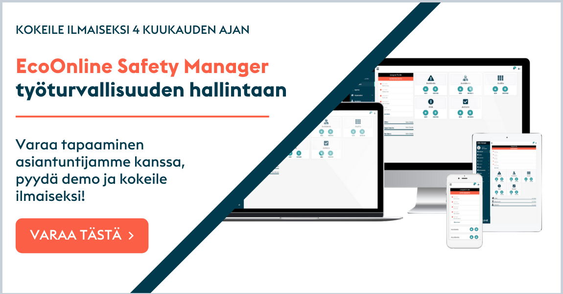 Kokeile Safety Manageria 4 kk ilmaiseksi