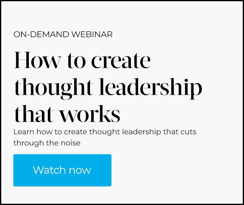 how to create thought leadership that works