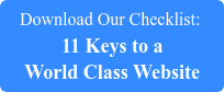 Download Our Checklist:  11 Keys to a World Class Website