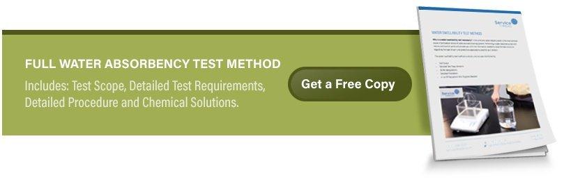 Water swellability test method