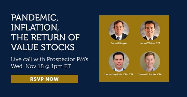 Live call with Prospector PMs - Wed, Nov 18 @ 1pm ET