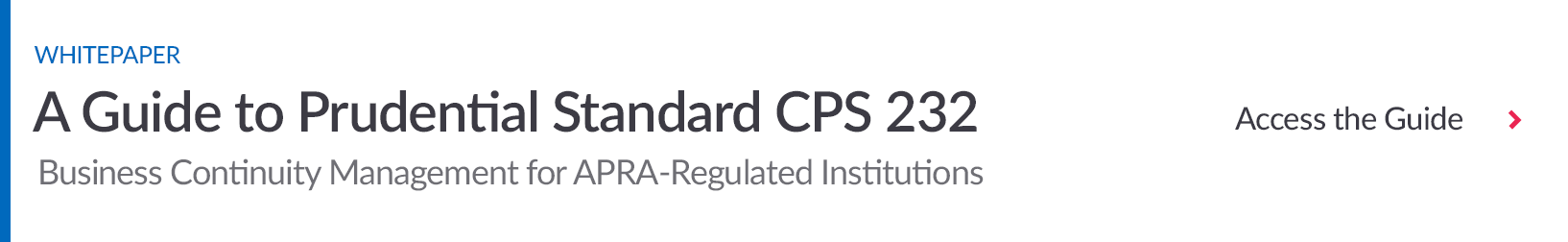 Download Prudential Standard CPS 232 for Business Continuity Guide
