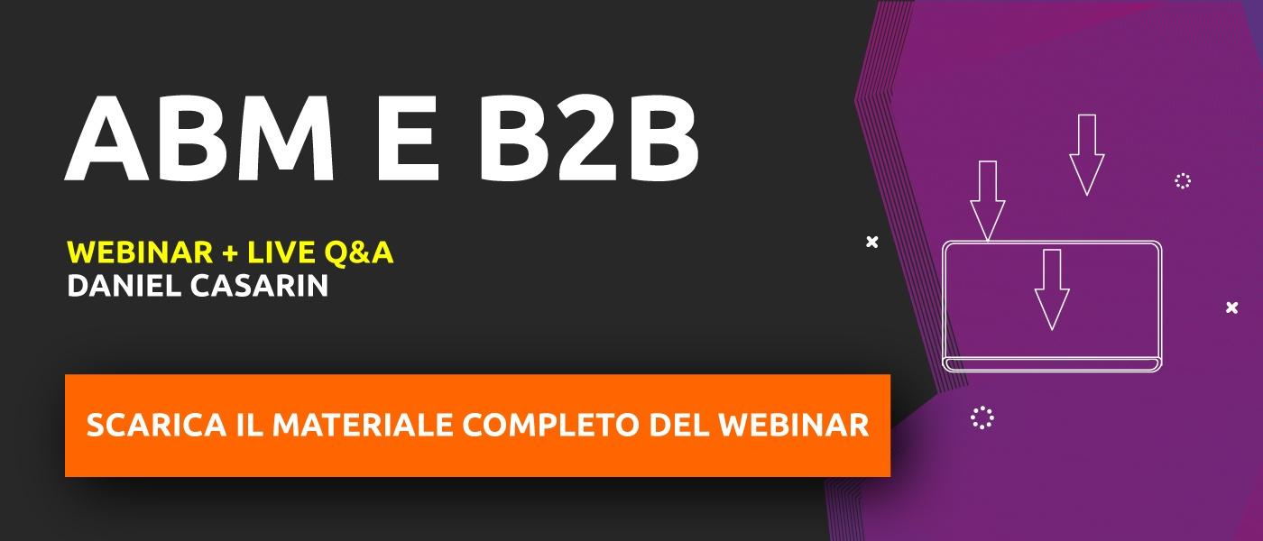 "Materiale completo webinar ""ABM e B2B"""