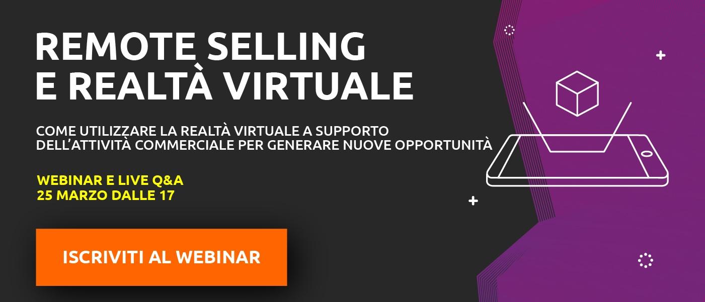 Remote selling e realtà virtuale