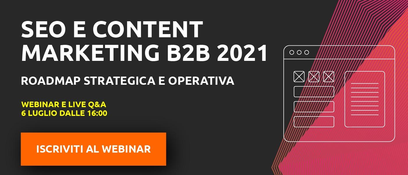 "Webinar ""SEO e content marketing 2021"""