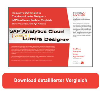 Vergleich Lumira versus SAP Analytics Cloud