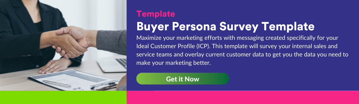 Buyer Persona Survey Template