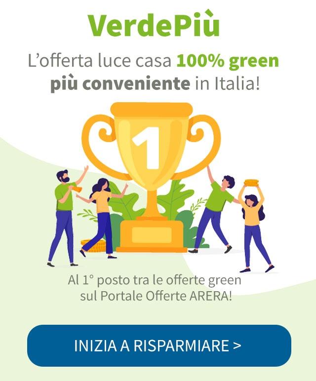 VerdePiù - L'offerta Green più economica del web