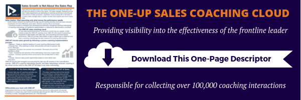 Sales Coaching Cloud One Page Descriptor
