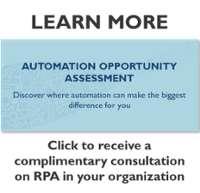 Receive a complimentary consultation on RPA in your organization