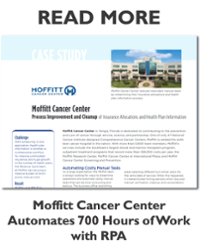 Moffitt Cancer Center Automates 700 Hours with RPA