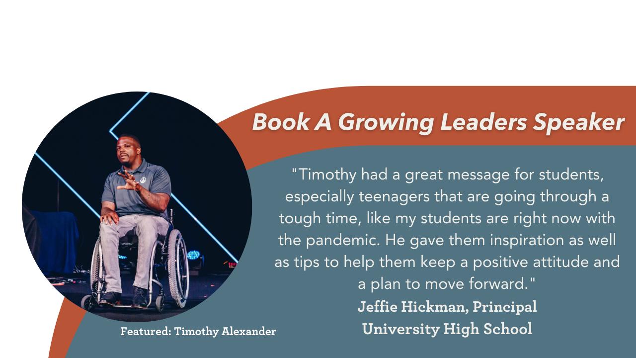 Book a Growing Leaders Speaker
