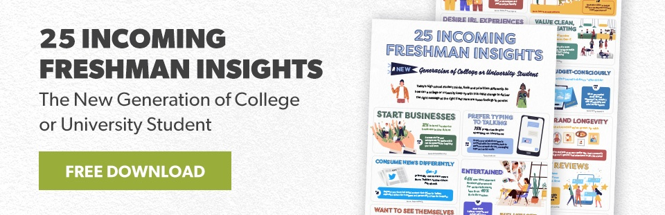 Higher Education Freshman Insights Infographic Download