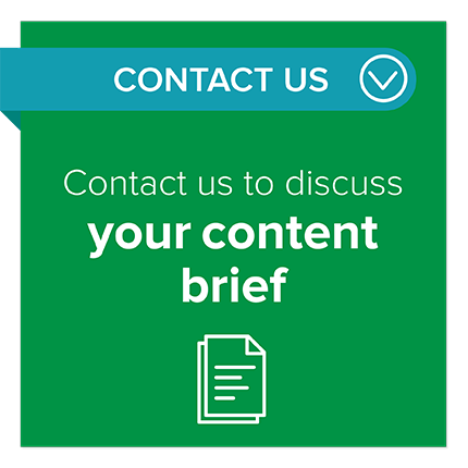 Content brief contact button