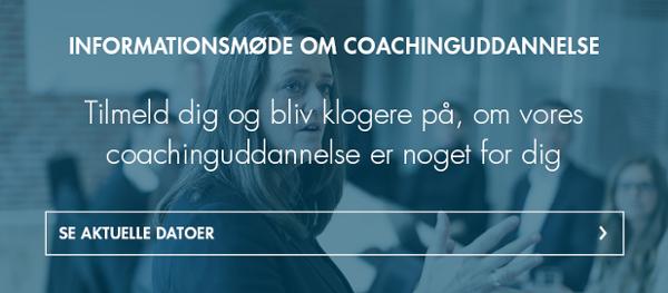 Informationsmøde om coachinguddannelse