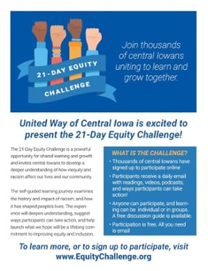 21-Day Equity Challenge Flyer