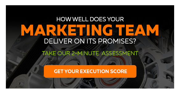 How Well Does Your Marketing Team Deliver On Its Promises? - Take Our 2-Minute Assessment - Get Your Execution Score