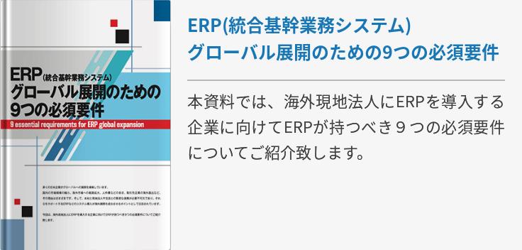 ERP(統合基幹業務システム) グローバル展開のための9つの必須要件