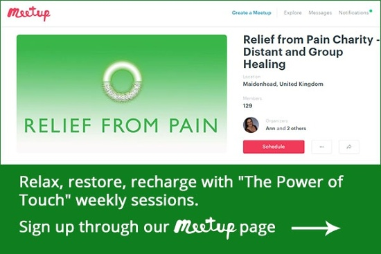 Relief from Pain Meetup Page