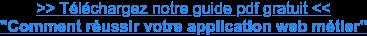 """>> Téléchargez notre guide pdf gratuit << """"Comment réussir votre application  web métier"""""""