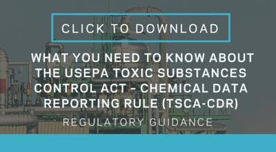 Regulatory Guidance - TSCA CDR