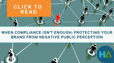 Click to read - When compliance isn't enough - protecting your brand