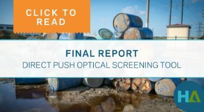Final Report - Direct Push Optical Push Screening Tool