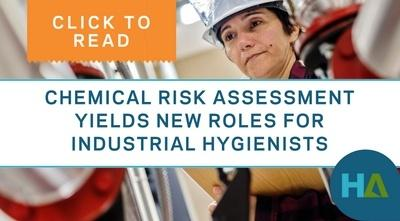 Chemical risk assessment yields new roles for industrial hygienists
