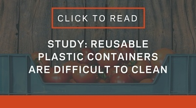 Reusable plastic containers are difficult to clean