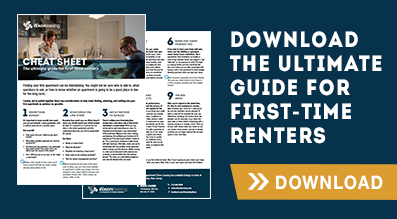 first time renters cheat sheet