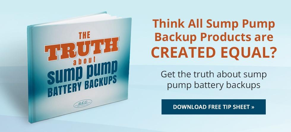 sump pump battery backups