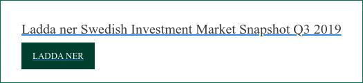 Ladda ner Swedish Investment Market Snapshot Q3 2019  Ladda ner