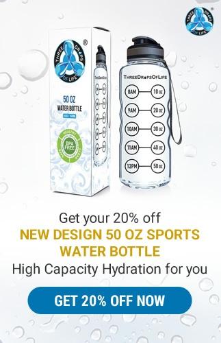 20% Promo 50oz Sports Water Bottle