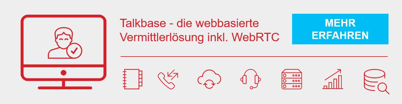 webbasierte Vermittlerlösung mit WebRTC