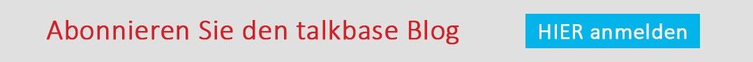 Anmeldung zum talkbase Blog
