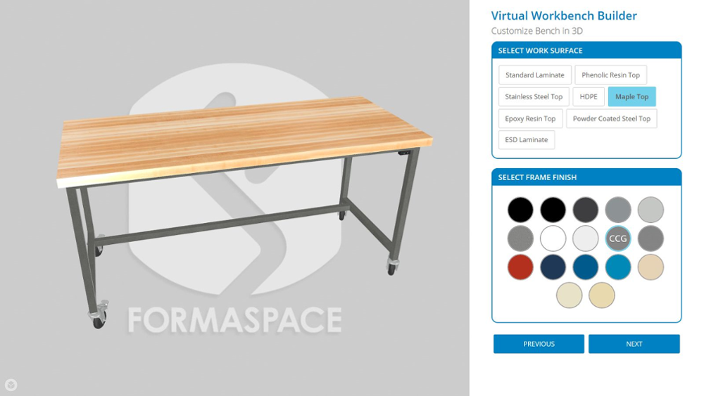 Try Formaspace Virtual Workbench Builder today.