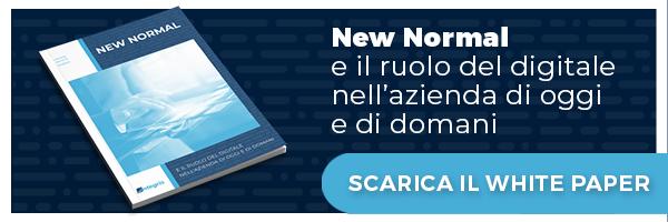 """Clicca qui e scarica il white paper """"New Normal e il ruolo del digitale nell'azienda di oggi e di domani"""""""