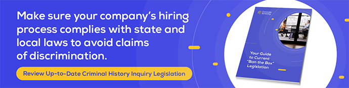 Criminal History Inquiry Legislation