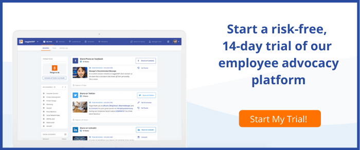 14-day trial of employee advocacy