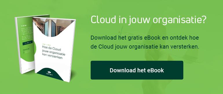 """Download het eBook """"Hoe de Cloud jouw organisatie kan versterken"""""""