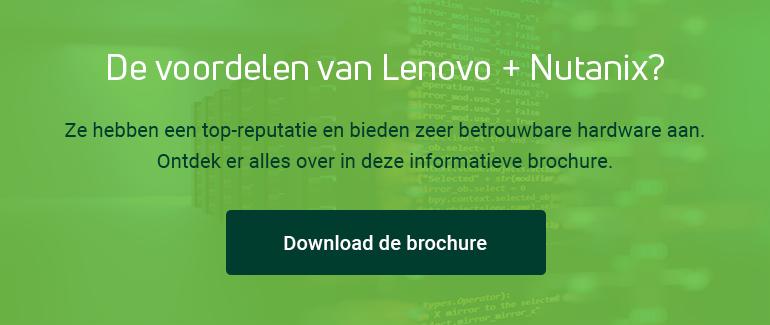De voordelen van Lenovo + Nutanix