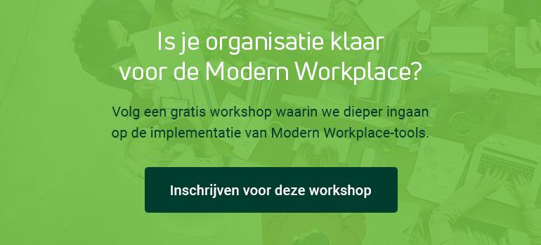 Volg een gratis workshop over de implementatie van Modern Workplace-tools.
