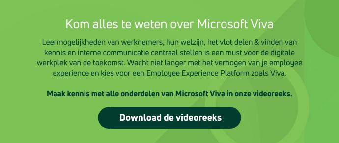 Kom alles te weten over Microsoft Viva: het employee experience platform van de toekomst
