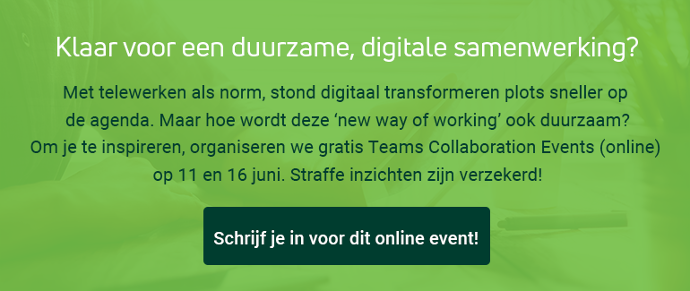Teams Collaboration Event, schrijf je nu in!