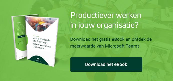 Download het gratis Microsoft Teams eBook.