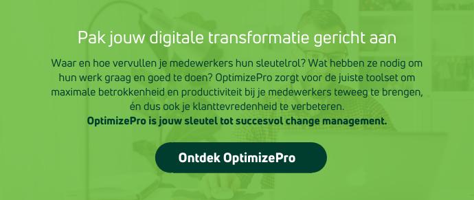 Pak jouw digitale transformatie gericht aan met OptimizePro