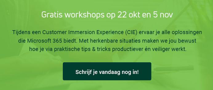 Workshop productief en veilig werken