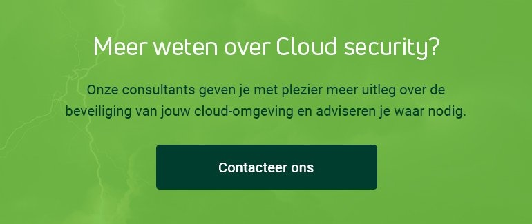Meer weten over Cloud security? Contacteer ons!