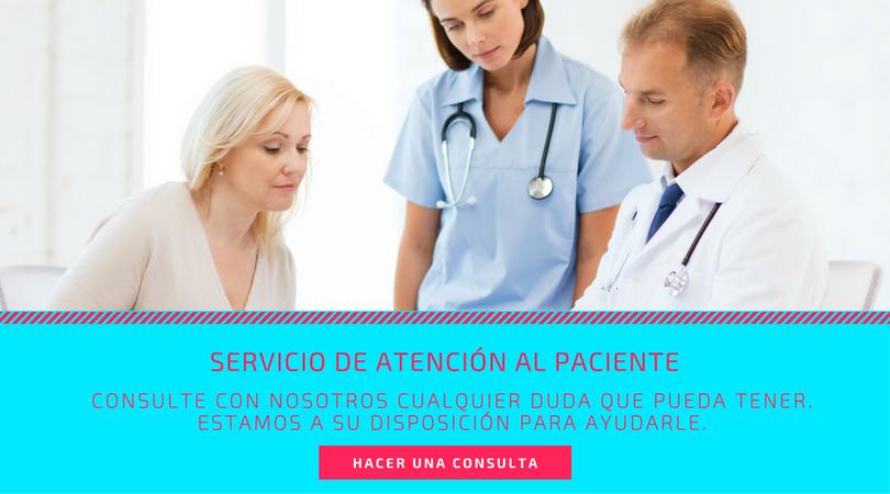 Contacte con el Servicio de Atención al Paciente