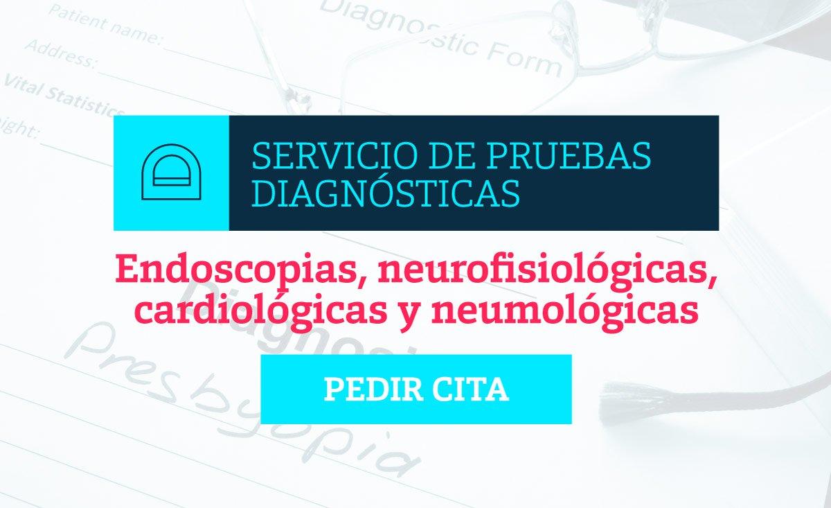 Pida cita para el servicio de Pruebas Diagnósticas